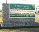 Veterinary Wellness Center Sign off Old Harrison Ave